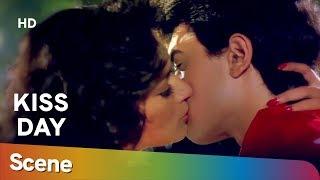 Madhuri Dixit & Amir Khan Kiss scene from 90