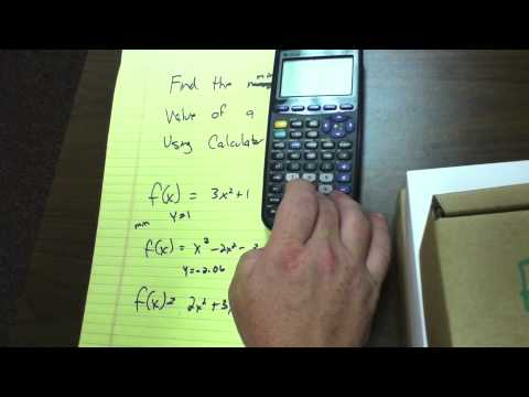 Finding the maximum/minimum value on the graphical calculator pt2 - 16