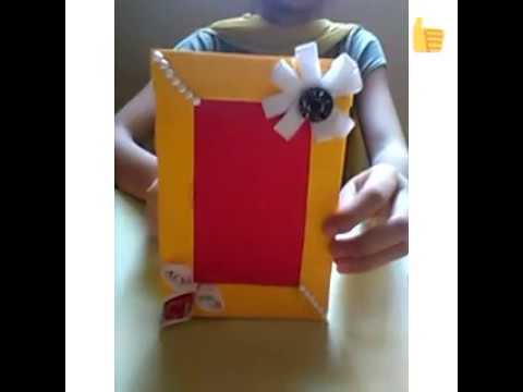 How to make photo frame with invitation card