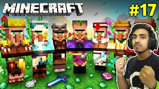FINALLY VILLAGERS CAME IN MY CASTLE | MINECRAFT GAMEPLAY #17