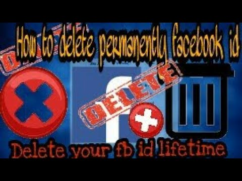 How to delete facebook account permanently.Delete your facebook id life time.