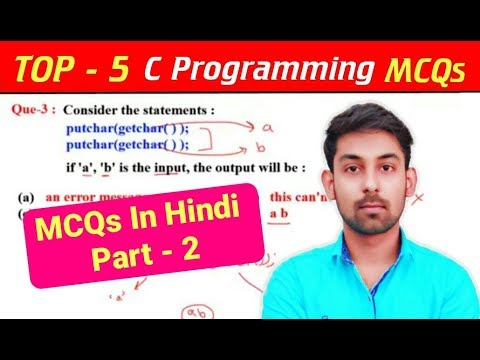 TOP - 5 | C Programming MCQs/Questions In Hindi | Part-2 | By Nirbhay Kaushik