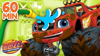 The Best Car Wash Surprise Compilation! | 60 Minutes | Blaze and the Monster Machines