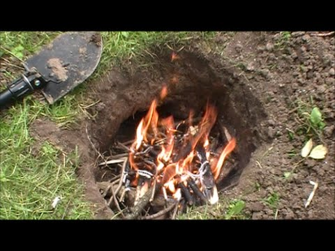 Build & Cook On A Dakota Fire Hole/Pit