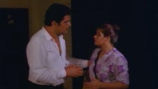Action Scene Between Raza Murad \u0026 His Wife || Khatra Hindi Movie Scenes || Ektaa