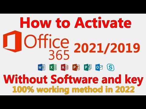 How to Activate Microsoft Office 2019/365 for FREE without Product Key and Software