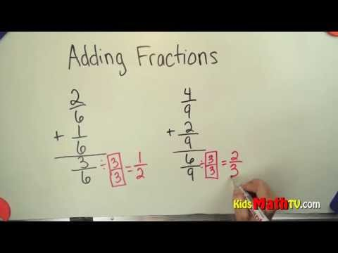 Learn Adding Fractions with Common Denominator Video