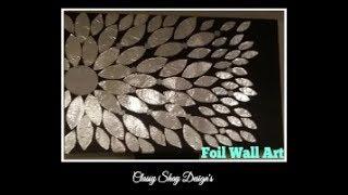 DIY: Foil Wall Art Home Decor - Dollar Tree
