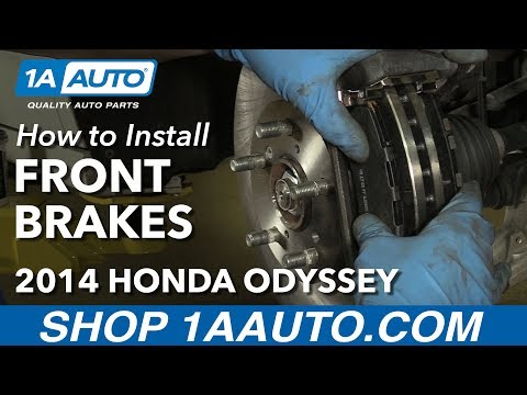 How to Install Replace Front Brakes Pads Rotors 2011-14 Honda Odyssey