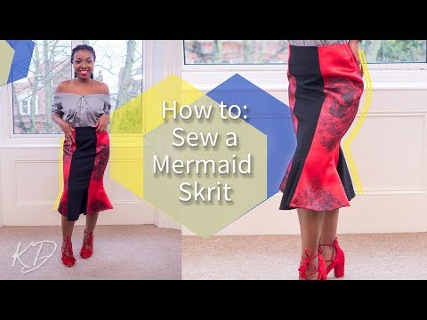 [DETAILED] HOW TO: SEW A MERMAID SKIRT | KIM DAVE