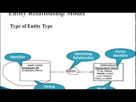 Entity Relationship Model 02:  Types of Entity Type