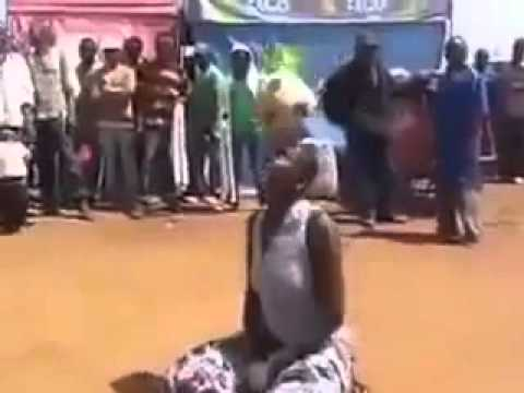 African Lady With Football Skills