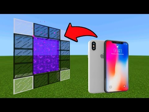 Minecraft Pe How To Make a Portal To The iPhone X Dimension - Mcpe Portal To The iPhone X!!!