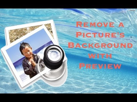 How to Remove a Picture's Background using Preview (Mac)