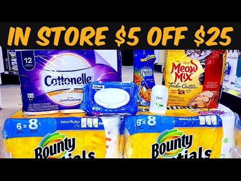 In Store Breakdown for Dollar General's $5 Off $25