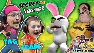 HELLO NEIGHBOR gets TROLLED! EASTER ALPHA HIDE n SEEK Time! (FGTEEV plays Secret Neighbor #4)