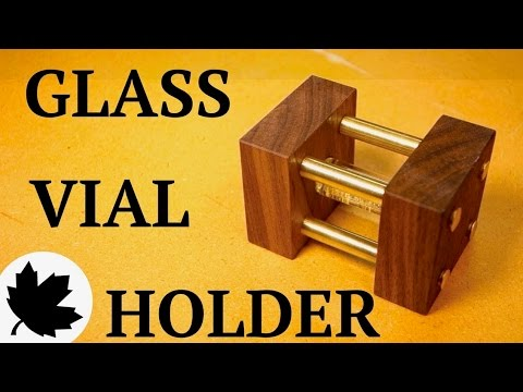 Glass Vial Display Case - Filled with Gold!