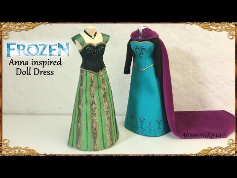 Anna (Frozen) inspired Doll Dress - Fabric Tutorial