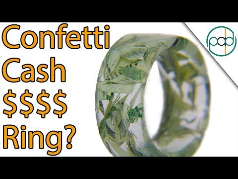 Making a Shredded Cash Resin Ring