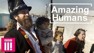 The Clowns Helping Refugee Children To Laugh Through Play | Amazing Humans