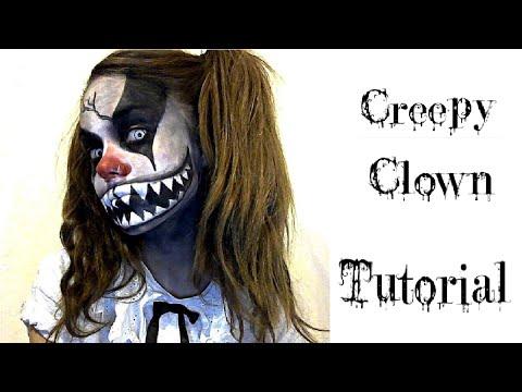 Halloween Ideas makeup & face paint - Creepy Clown