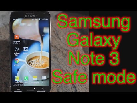How To Put Android Smartphone In Safe Mode | Samsung Note 3 | Enter or Exit Safe mode