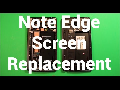 Galaxy Note Edge Screen Replacement Repair How To Change