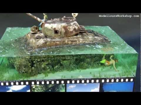 Diorama of the Day: Saipan Beach M4A2 Sherman Tank