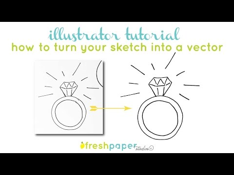 Illustrator Tutorial - How to Turn a Drawing into a Vector using Adobe Illustrator
