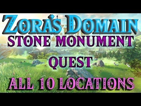 Zelda Breath of the Wild - Zora's Stone Monuments Quest