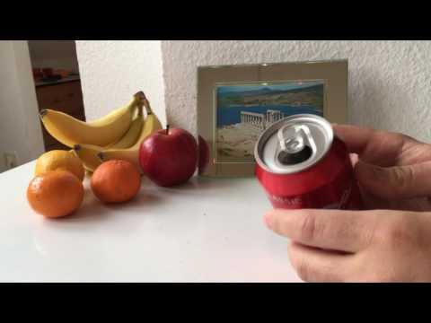 Cut open soda can with bare hands