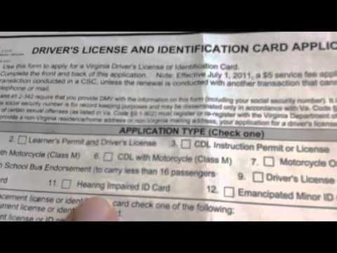 Virginia's license