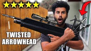 I Bought ALL The ARROW BROADHEADS On Amazon!! (AIRBOW) *DARK WEB TWISTED ARROWHEAD*