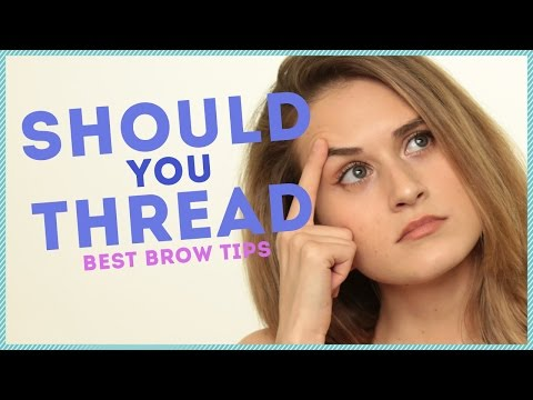 FIRST TIME THREADING MY EYEBROWS w/ ThatGibsonGirl