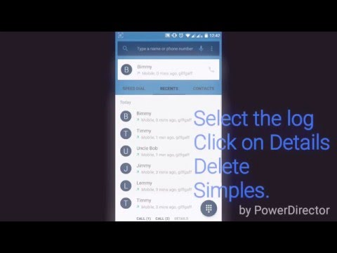 How to delete single call log entries on Android
