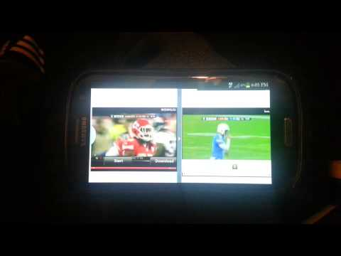Split screen function on the Galaxy S3