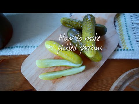 How to make pickled gherkins