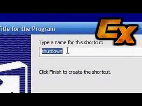 Creating a Desktop Shutdown, Restart and Logoff Button