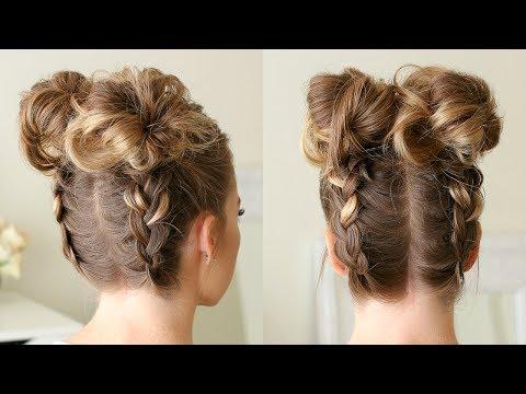 Double Dutch Braid High Buns | Missy Sue