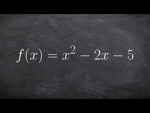 Converting between quadratic and vertex form by completing the square