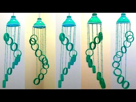 Empty Plastic bottle wind chime | Recycled bottle wind chimes | wind chimes with waste materials