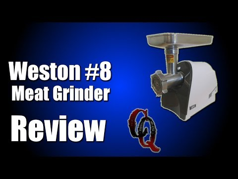How To Make | Weston #8 Meat Grinder Review | Grinding Pork