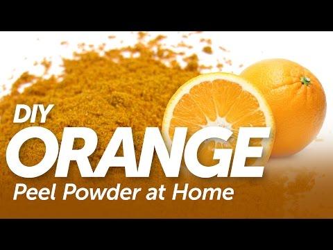 Make Pure Orange Peel Powder at Home - DIY