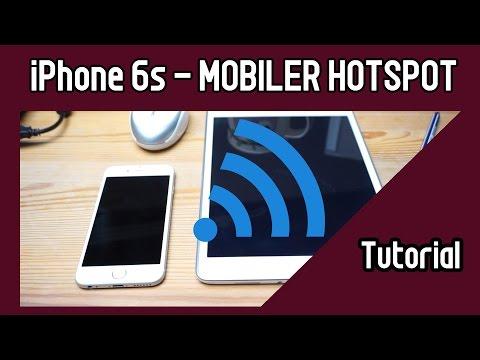 iPhone Mobiler Hotspot einrichten Tutorial iPhone 6 iPhone 6s LTE Datenvolumen Hotspot Kreativecke