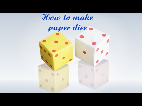 How to Make Origami Loaded Dice || Step by Step Instructions || Paper Dice || DIY  crft || Tutorial
