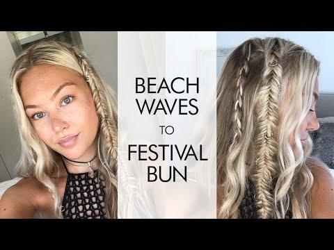 Hollie's Hobin's Hair Tutorial: Braided Beach Waves to Festival Bun