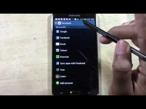 Galaxy Note 3 - How to Add an Email Account​​​ | H2TechVideos​​​
