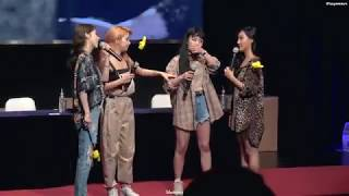 [vietsub] 180805 Red Moon Sinchon Fansign - Mamamoo (truth Or Dare Game)