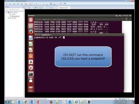 Taking a Snapshot VMWare Workstation