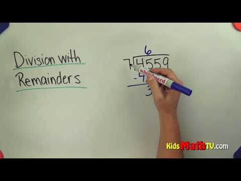 Learn long division with remainders | Math video tutorial
